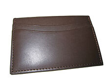 Ralph Lauren Collection Chocolate Brown ID Card Polo Slim City Wallet