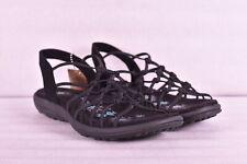 Women's Skechers Reggae Slim - Forget Me Knot Sandals, Black, 9M