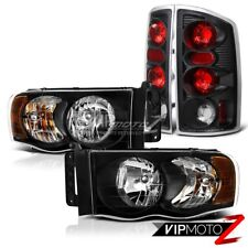 "2002-2005 Dodge Ram 1500 2500 3500 ""HARLEY STYLE"" Black Headlights Tail Lights"