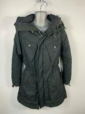 MENS DIESEL BLACK CASUAL PADDED POCKETS RAIN COAT JACKET WITH HOOD SIZE S SMALL