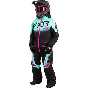 FXR Black/Seafoam/Electric Pink Child Boost Monosuit Knit Cuffs FAST Thermal