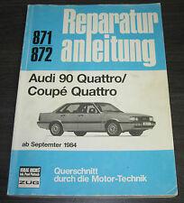 Reparaturanleitung Audi 90 Typ 85 B2 Quattro ab September 1984 Bucheli + Coupe