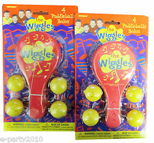 WIGGLES PADDLEBALLS (8ct) ~ Rare Birthday PARTY Supplies FAVORS