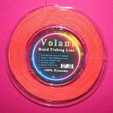 100LB ORANGE COLOR SUPERIOR QUALITY FISHING BRAID 100% DYNEEMA LINE 100M