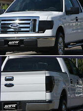 2009-2013 Ford F150 GTS Smoke Acrylic Headlight Taillight Covers Protection 4pc
