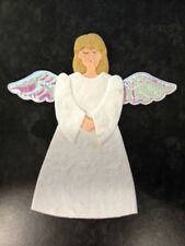4 WHITE MULBERRY PAPER ANGEL CHRISTMAS CARD MAKING CRAFT EMBELLISHMENTS