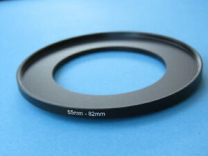 55mm to 82mm Step Up Step-Up Ring Camera Filter Adapter Ring 55mm-82mm