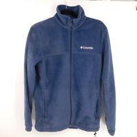 Columbia Jacket Womens Size Small Blue Fleece Full Zip Pockets