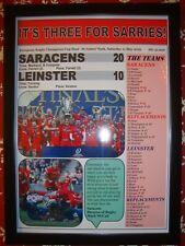 Saracens 20 Leinster 10 - 2019 European Champions Cup final - framed print