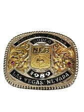 NFR 1989 NATIONAL FINALS RODEO LAS VEGAS VINTAGE!  Belt Buckle   BY GIST