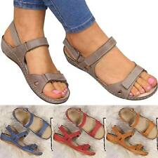Fashion Womens Orthopedic Premium Open Toe Sandals Strappy Lounge Shoes Size