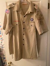 Boy Scout BSA UNIFORM SHIRT Mens Two Extra Large XXL Short Sleeve Tan #22