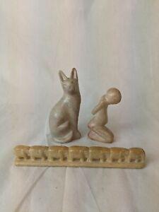 3 Sandstone Figurines
