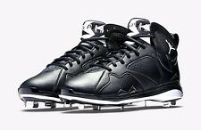 Nike Air Jordan 7 Retro VII Metal Baseball Cleats Sizes 9 11 12 Black 684943-010