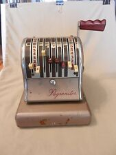 Vintage Paymaster Check Imprinting Machine #3826527 8 Column, #S-600 Still works