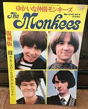 THE MONKEES - Japanese Fan Club Booklet 40 Pages Color - VG Condition -