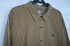 TIMBERLAND Mens - Long Sleeve Shirt - Size XXL 2XL Brown/Dark Yellow Blue Check