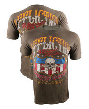 NEW Men's Affliction On the Road T-shirt Size: Large Color: Brown