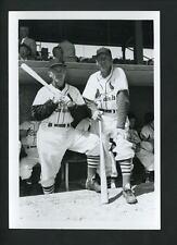 Eddie Stanky & Enos Slaughter 1952 Press Original Photo Don Wingfield Cardinals
