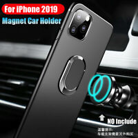 For iPhone 11 Pro 2019 XS MAX XR Matte Soft Case Cover+Magnetic Car Phone Holder