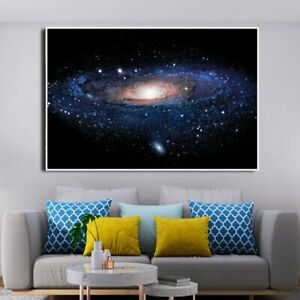 Galaxy Nebula Space Astronomy Universe Clouds Canvas Painting Wall Art Prints