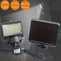 100LED Solaire Capteur Détecteur de Mouvement Lampe Projecteur Jardin Cour Patio