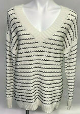 Westport Dressbarn Women's Pullover Sweater Size L White Black Color NEW