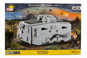 Cobi 2982 - Sturmpanzerwagen A7V - 575 PCS WW1 Klemmbaustein Bausatz Modellbau