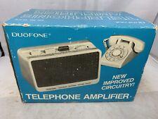 Vintage Duofone Telephone Amplifier w/original Box