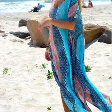 Women's Summer Boho Long Kaftan Maxi Dress Evening Cocktail Party Beach Dress QW