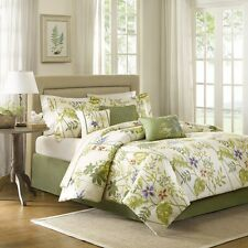 Hawaiian Tropical Leaves Beach House King Comforter Set (7 Piece Bed In A Bag)