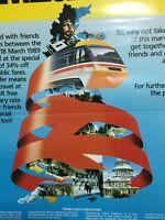 1989 British Rail Staff Poster - Share Your Privilege Around