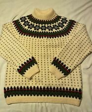 Vintage Nordic Sweater Size L Handknitted