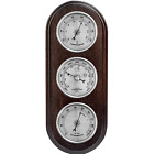 Weather Station Barometer Thermometer Hygrometer Silver Dials New Boxed Gift