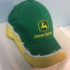 John Deere Ball Cap Green/Yellow/White NEW Ships Free