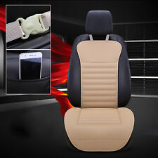 PU Leather Buckwheat Hull Car Front Seat Cover Cushion Surround Breathable BG A0