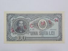 ROMANIA RUMANIEN Banknote 100 Lei 1952 Specimen Rare