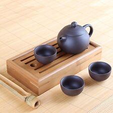 Chinese Yixing BELLISSIMA Argilla Tè Set-Pot con tre tazze, Vassoio da tè chapan E TON