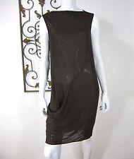 DKNY SLEEVELESS SHEER DRESS SIZE 8, BROWN