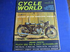CYCLE WORLD magazine-FEB 1963-PUCH 250 SG-PUCH DOT SCRAMBLER-VINCENT HISTORY