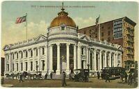 1900's Hibernia Bank San Francisco California Trolley Car Horse Buggy Postcard