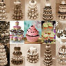 NEW 3 4 5 Tier Crystal Clear Acrylic Round Cupcake Stand Wedding Birthday Cake