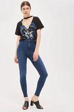 Topshop Tall True Blue Joni Super High Waisted Skinny Jeans 30a41lble USA 12 W34