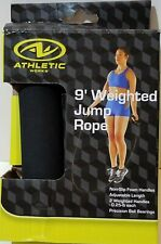 New In Package Athletic Works 9 Foot Weighted Jump Rope .25 LB Non Slip Handles