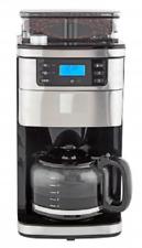 Kaffeemaschine mit Mahlwerk 8 Mahlgrade 1050W 1,5L Silber