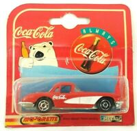Majorette 1997 Coca-Cola Coke Polar Bear 200 Series Metal Red 58' Chevy Corvette