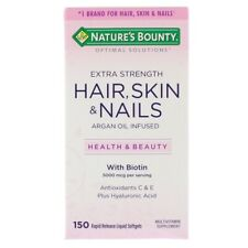 Extra Strength Hair Skin & Nails with Collagen & Hyaluronic Acid | 150 Capsules