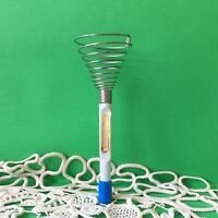 Vintage Spiral Wire Whisk Egg Cream Hand Beater Germany Democratic Republic GDR