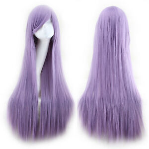 Sexy 80cm Long Straight Wigs Fashion Cosplay Costume Anime Hair Party Full Wigs