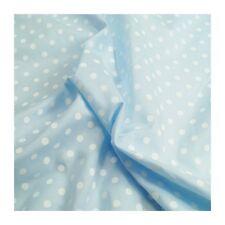 Blue pin spot en polycoton imprime robe tissu vendu par mètre
